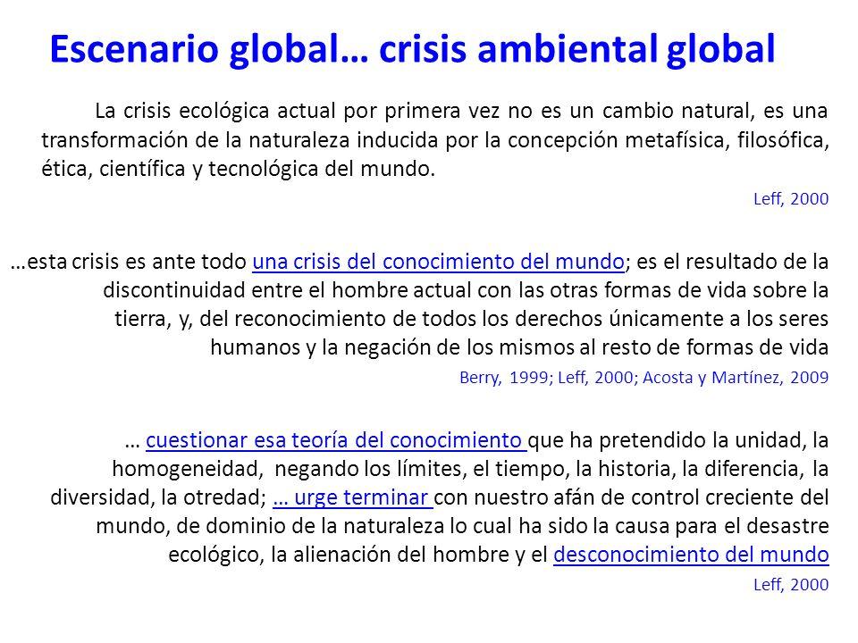 La crisis ecológica actual por primera vez no es un cambio natural, es una transformación de la naturaleza inducida por la concepción metafísica, filo
