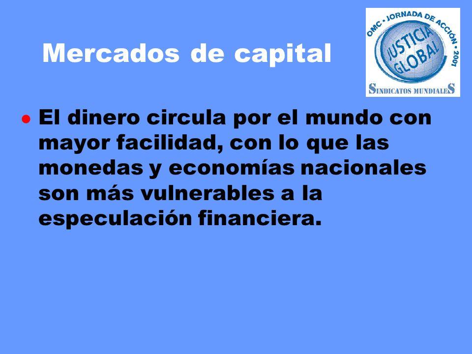 Mercados de capital l El dinero circula por el mundo con mayor facilidad, con lo que las monedas y economías nacionales son más vulnerables a la especulación financiera.