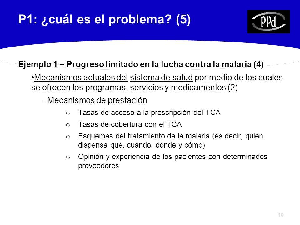10 P1: ¿cuál es el problema.