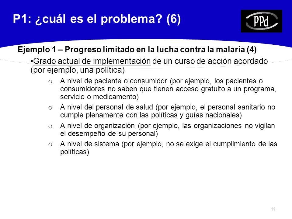 11 P1: ¿cuál es el problema.