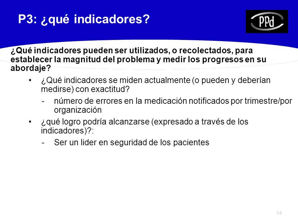 14 P3: ¿qué indicadores.
