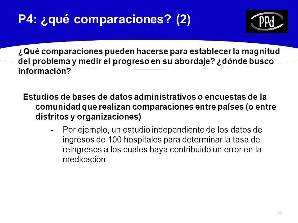 16 P4: ¿qué comparaciones.