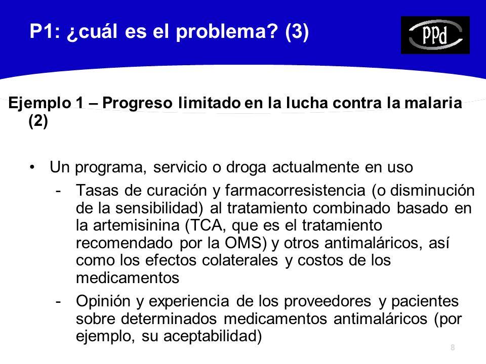 9 P1: ¿cuál es el problema.
