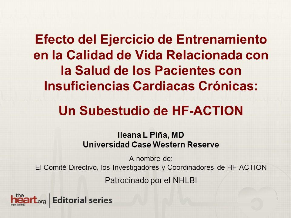 Efecto del Ejercicio de Entrenamiento en la Calidad de Vida Relacionada con la Salud de los Pacientes con Insuficiencias Cardiacas Crónicas: Un Subest
