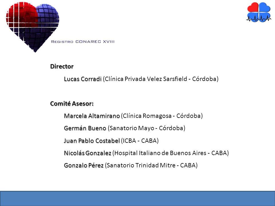 Director Lucas Corradi Lucas Corradi (Clínica Privada Velez Sarsfield - Córdoba) Comité Asesor: Marcela Altamirano Marcela Altamirano (Clínica Romagos