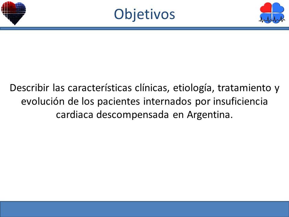Mayo 2010 Describir las características clínicas, etiología, tratamiento y evolución de los pacientes internados por insuficiencia cardiaca descompens
