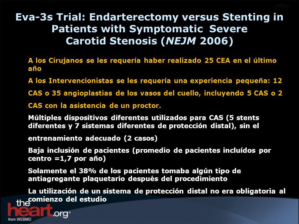 A los Cirujanos se les requería haber realizado 25 CEA en el último año A los Intervencionistas se les requería una experiencia pequeña: 12 CAS o 35 a