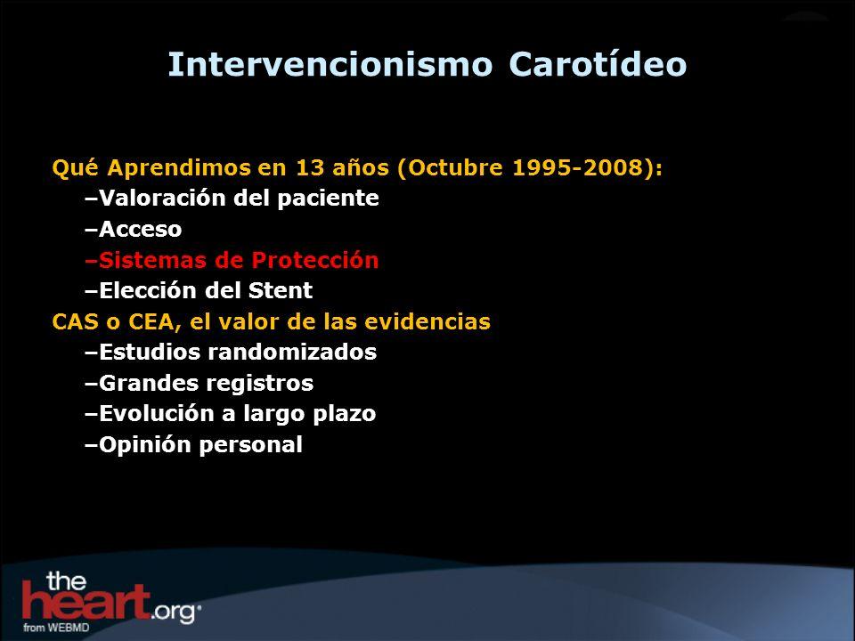 Eva-3s Trial: Endarterectomy versus Stenting in Patients with Symptomatic Severe Carotid Stenosis (NEJM 2006)