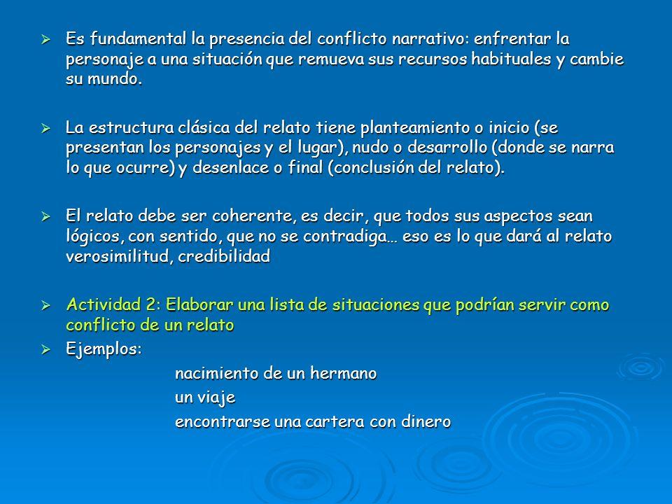 ELEMENTOS DE LA NARRACIÓN HISTORIA HISTORIA PERSONAJES PERSONAJES TIEMPO TIEMPO ESPACIO ESPACIO NARRADOR NARRADOR