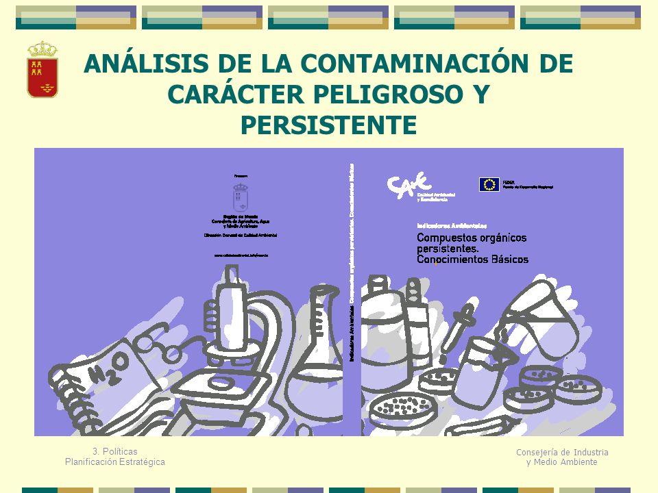 Consejería de Industria y Medio Ambiente ANÁLISIS DE LA CONTAMINACIÓN DE CARÁCTER PELIGROSO Y PERSISTENTE 3. Políticas Planificación Estratégica