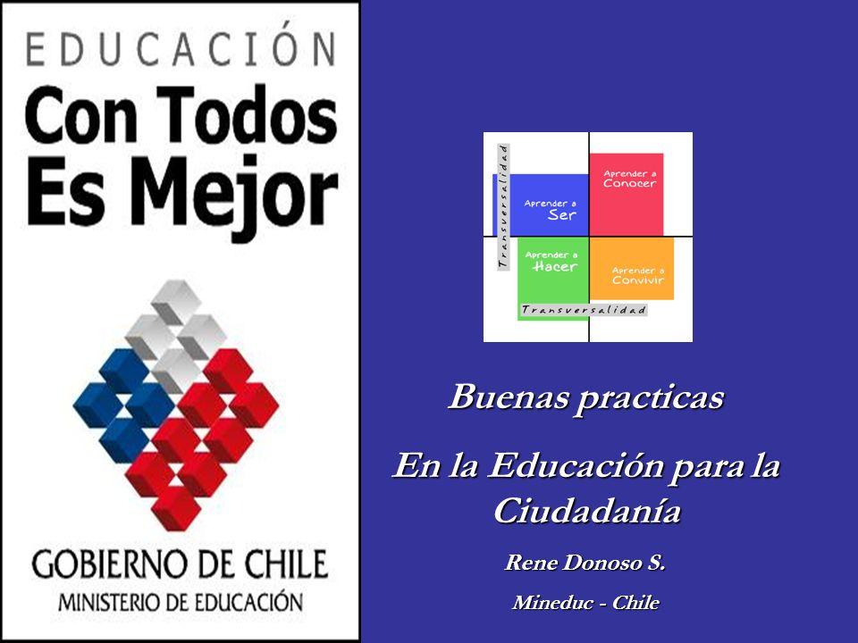 Buenas practicas En la Educación para la Ciudadanía Rene Donoso S. Mineduc - Chile