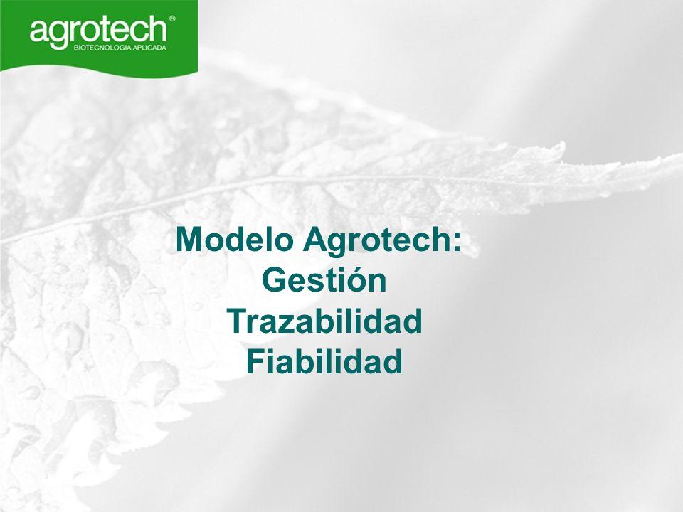 Modelo Agrotech: Gestión Trazabilidad Fiabilidad