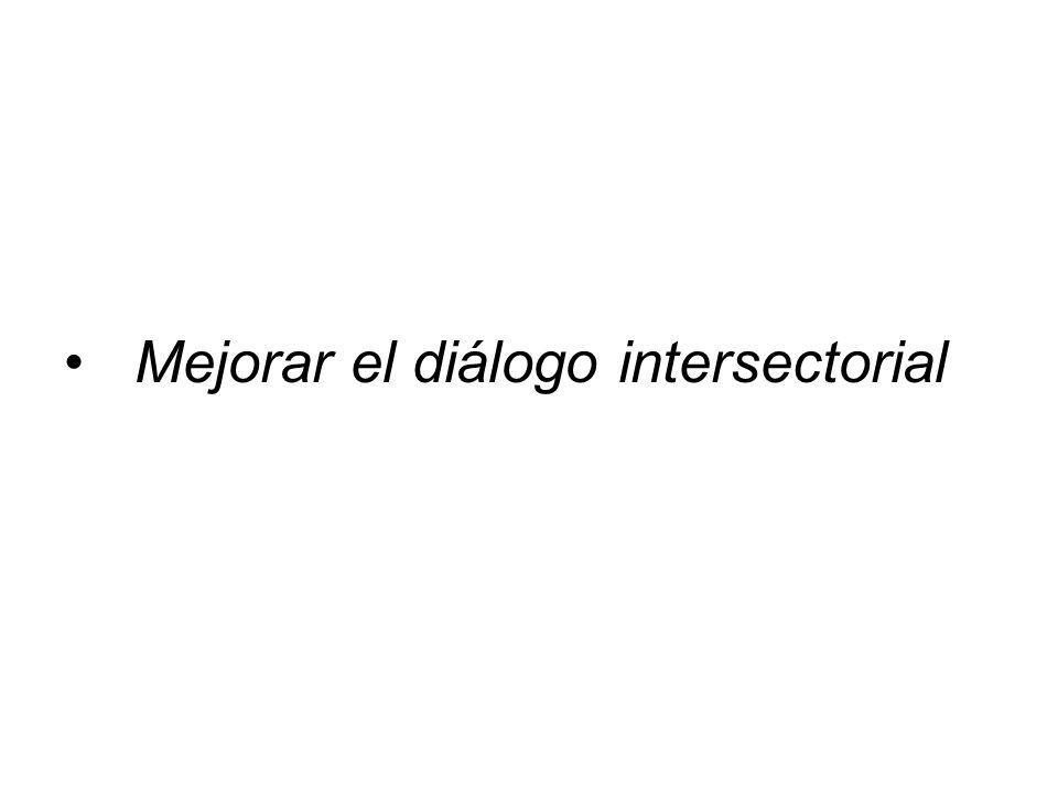 Mejorar el diálogo intersectorial
