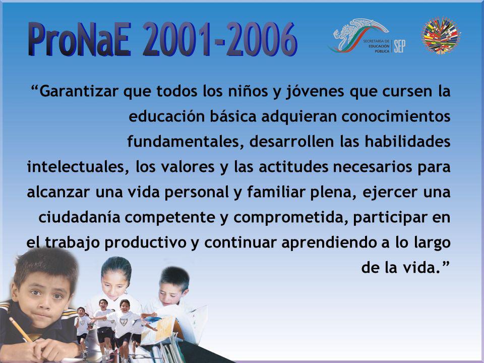 Garantizar que todos los niños y jóvenes que cursen la educación básica adquieran conocimientos fundamentales, desarrollen las habilidades intelectual
