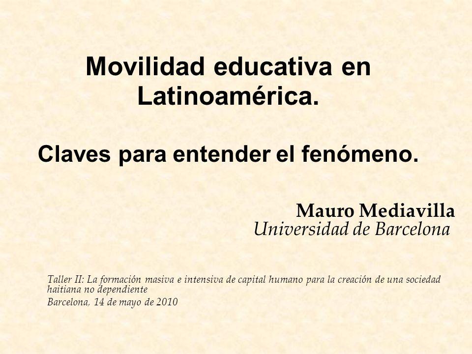 Movilidad educativa en Latinoamérica. Claves para entender el fenómeno.
