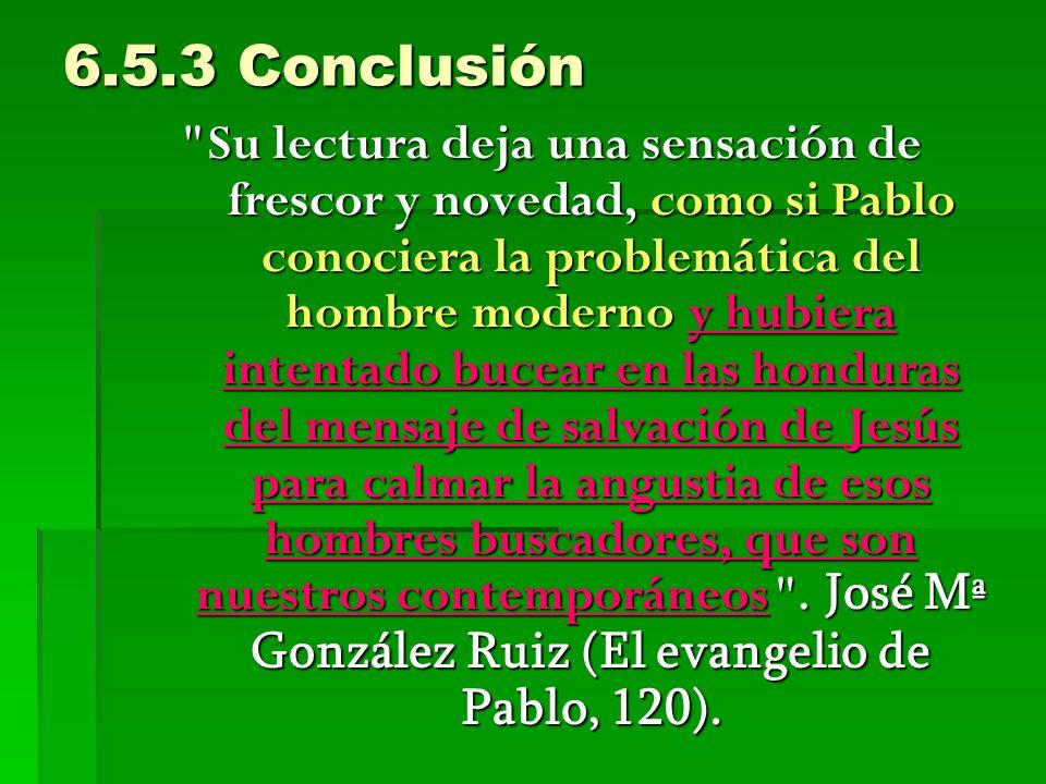 6.5.3 Conclusión