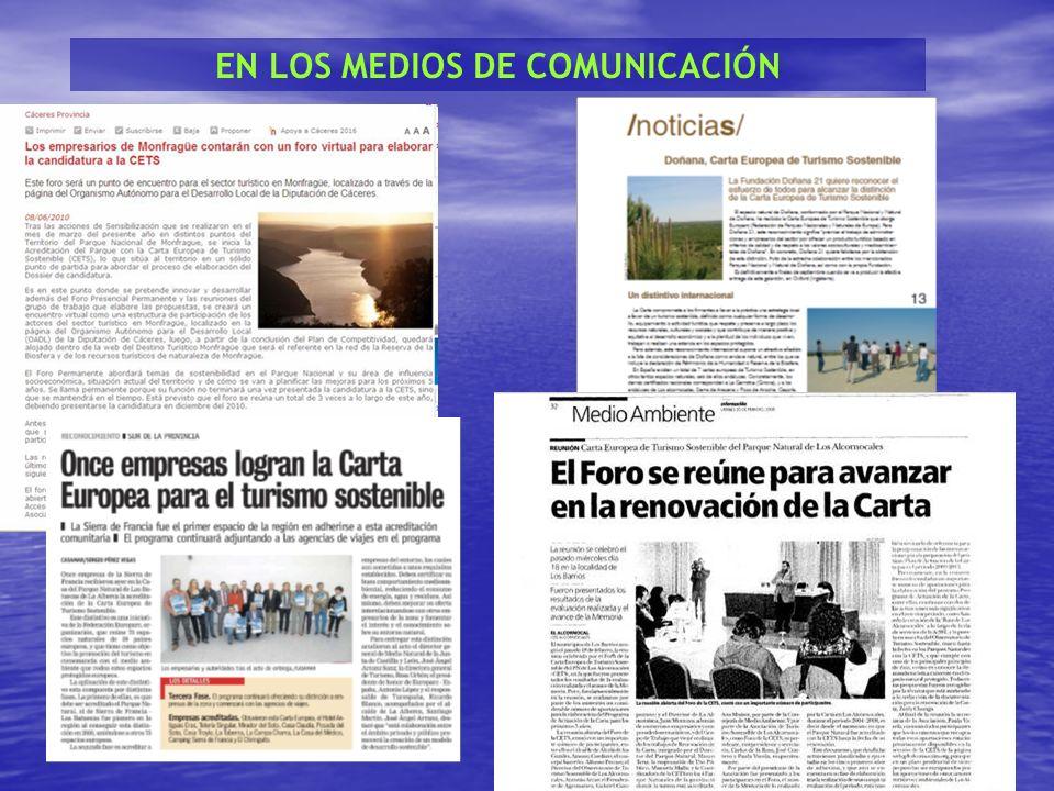 EN LOS MEDIOS DE COMUNICACIÓN