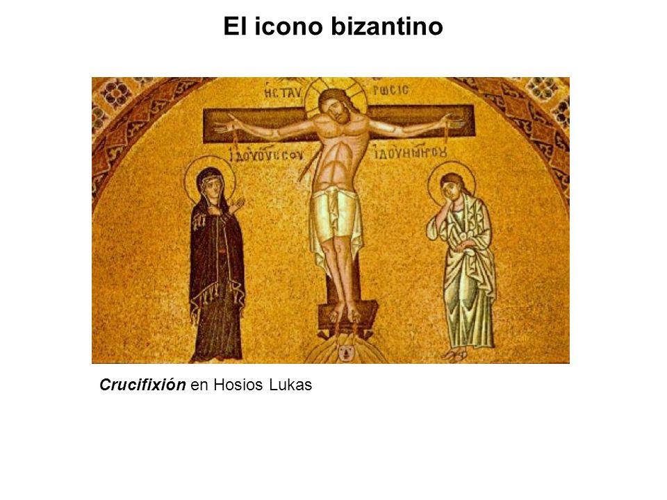 Crucifixión en Hosios Lukas El icono bizantino