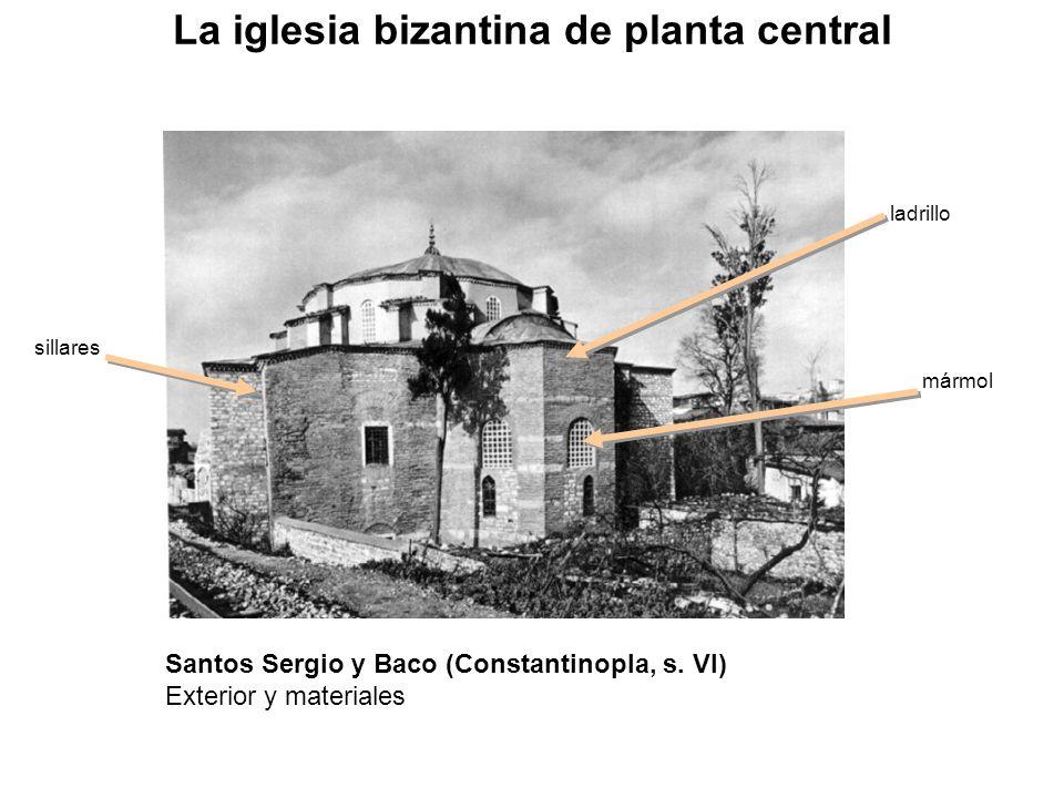 sillares mármol ladrillo La iglesia bizantina de planta central Santos Sergio y Baco (Constantinopla, s. VI) Exterior y materiales