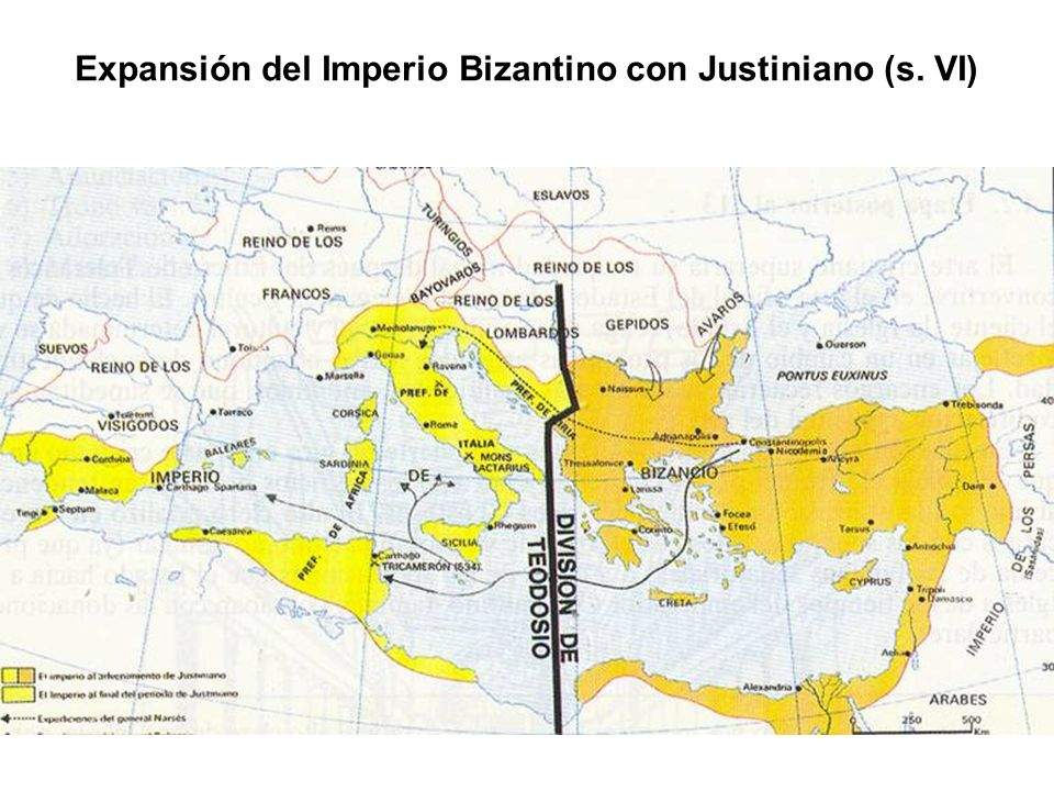 Expansión del Imperio Bizantino con Justiniano (s. VI)