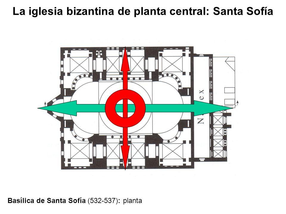 Basílica de Santa Sofía (532-537): planta
