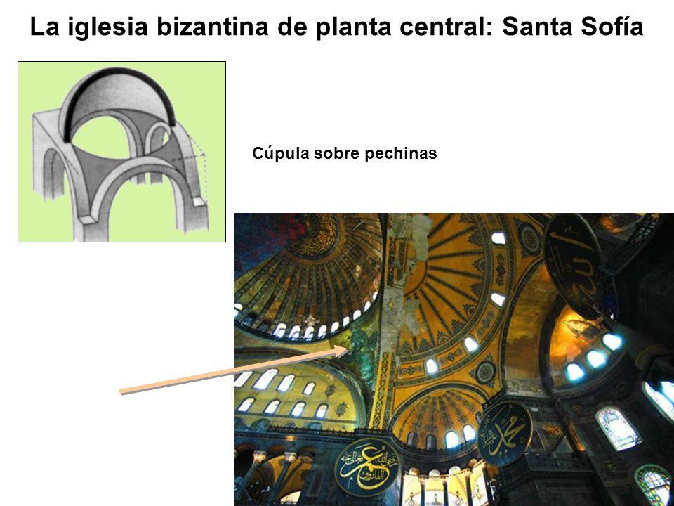 Cúpula sobre pechinas La iglesia bizantina de planta central: Santa Sofía
