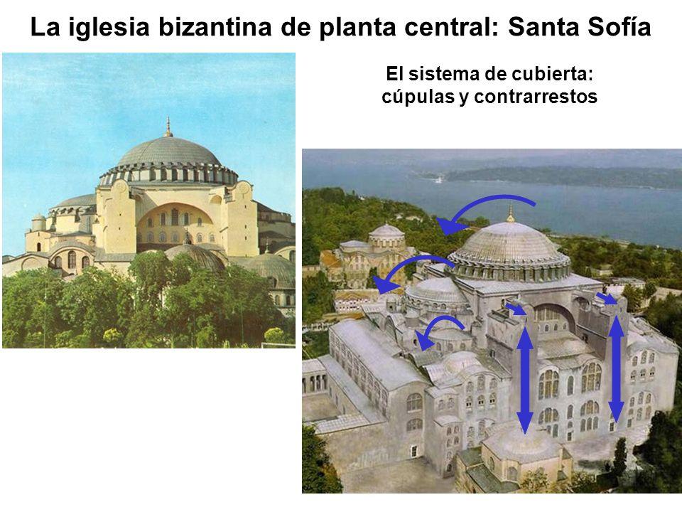 El sistema de cubierta: cúpulas y contrarrestos La iglesia bizantina de planta central: Santa Sofía