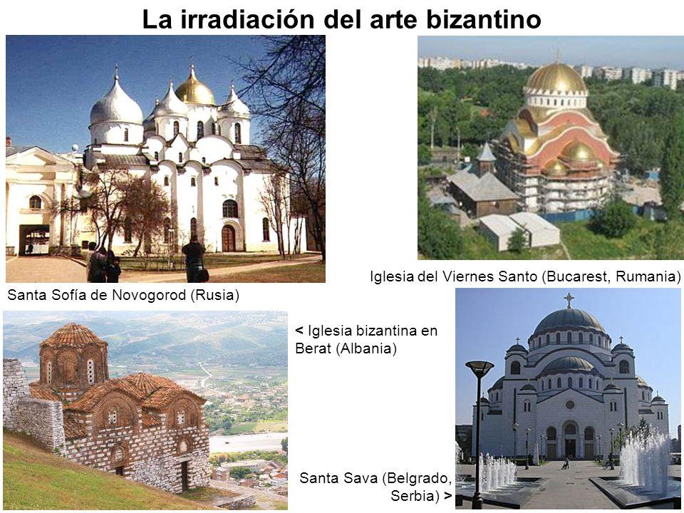 Santa Sofía de Novogorod (Rusia) Santa Sava (Belgrado, Serbia) > Iglesia del Viernes Santo (Bucarest, Rumania) < Iglesia bizantina en Berat (Albania)