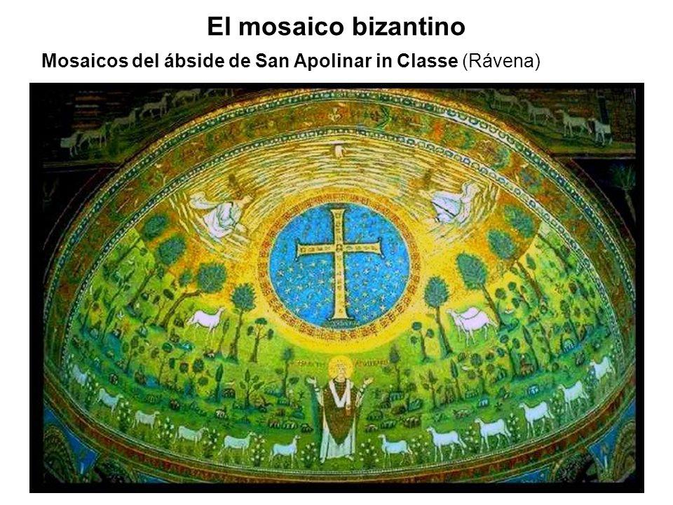 El mosaico bizantino Mosaicos del ábside de San Apolinar in Classe (Rávena)