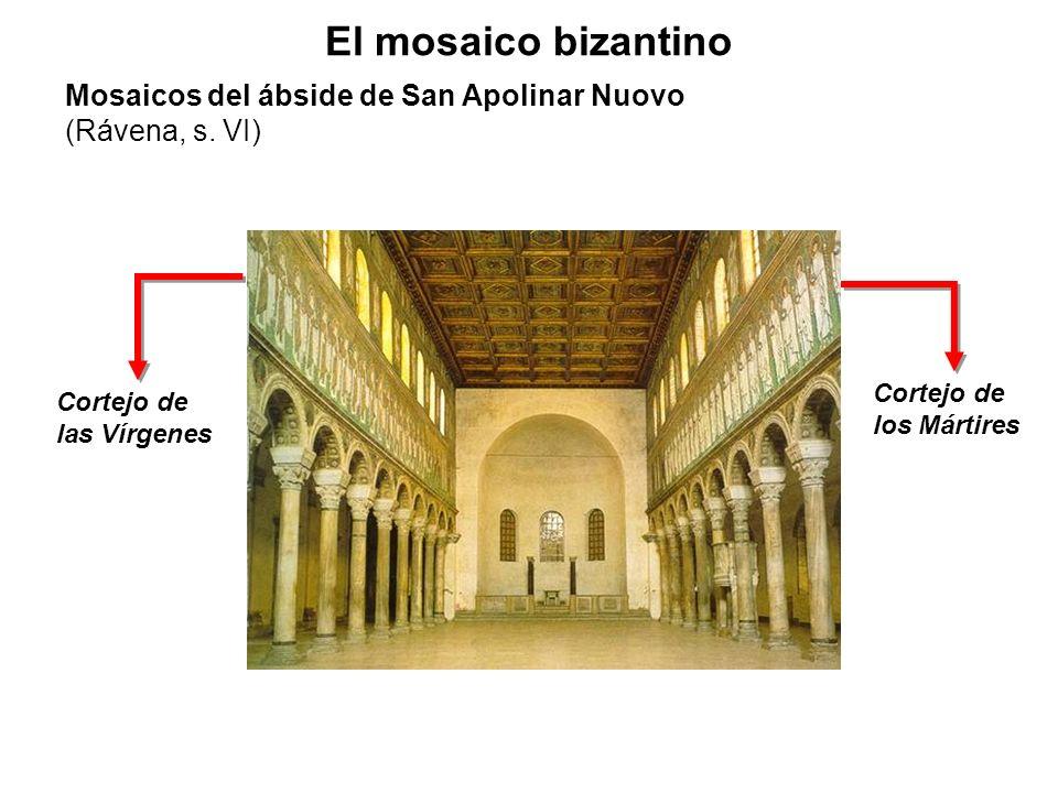 Cortejo de las Vírgenes Cortejo de los Mártires El mosaico bizantino Mosaicos del ábside de San Apolinar Nuovo (Rávena, s. VI)