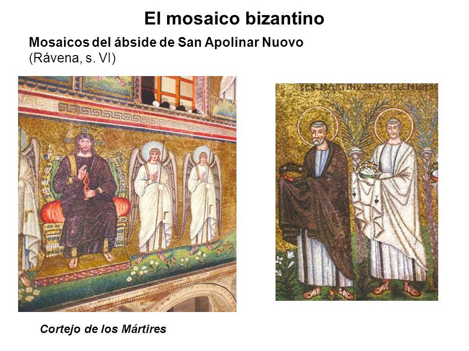Cortejo de los Mártires El mosaico bizantino Mosaicos del ábside de San Apolinar Nuovo (Rávena, s. VI)