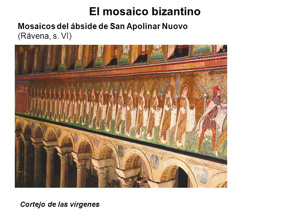 Cortejo de las vírgenes El mosaico bizantino Mosaicos del ábside de San Apolinar Nuovo (Rávena, s. VI)