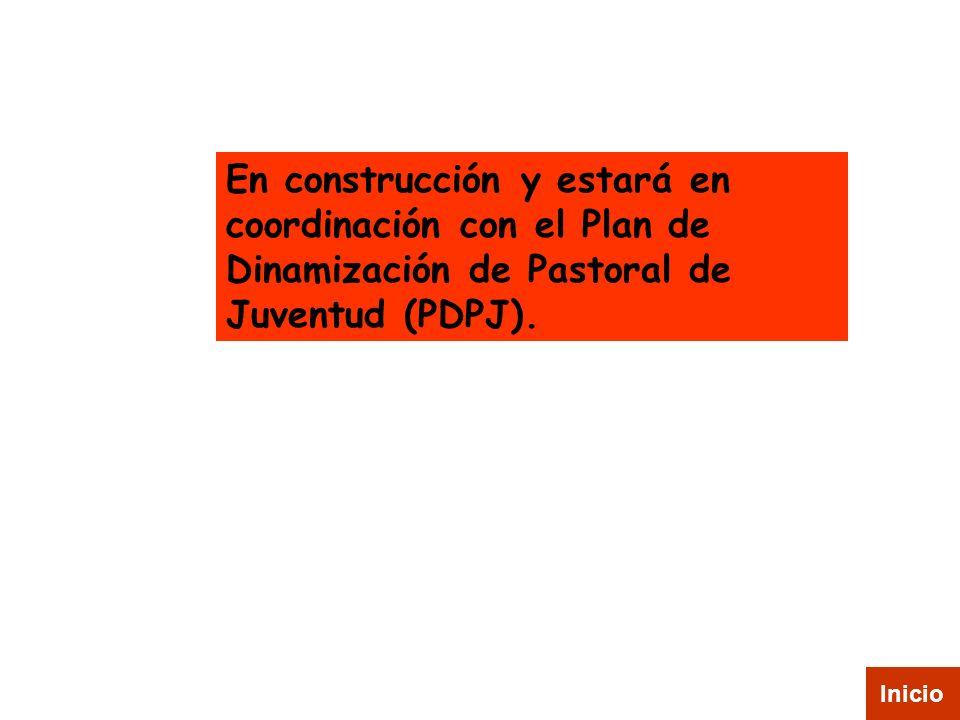En construcción y estará en coordinación con el Plan de Dinamización de Pastoral de Juventud (PDPJ). Inicio
