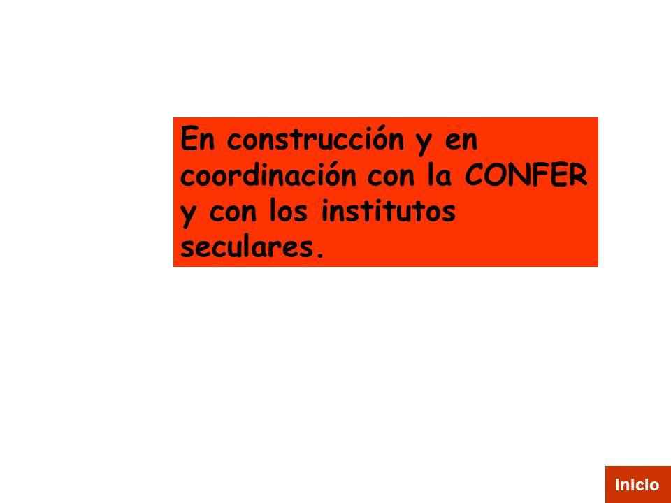 En construcción y en coordinación con la CONFER y con los institutos seculares. Inicio