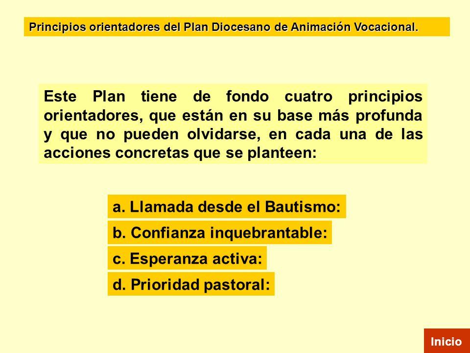 Este Plan tiene de fondo cuatro principios orientadores, que están en su base más profunda y que no pueden olvidarse, en cada una de las acciones conc
