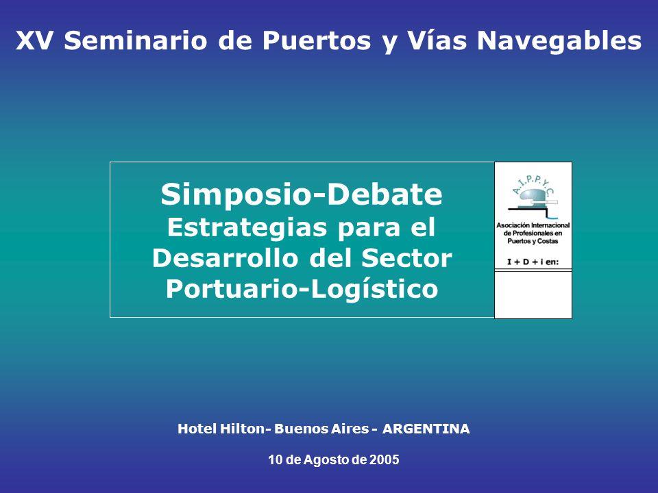 Programa (1) APERTURA: 14 hs: Presencia de Autoridades Portuarias y Empresarios MODULO 1: VISION CONCEPTUAL : 14:30 a 16.30 ¿Que factores influyen en el desarrollo portuario-logístico.