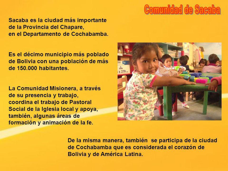 Sacaba es la ciudad más importante de la Provincia del Chapare, en el Departamento de Cochabamba. De la misma manera, también se participa de la ciuda