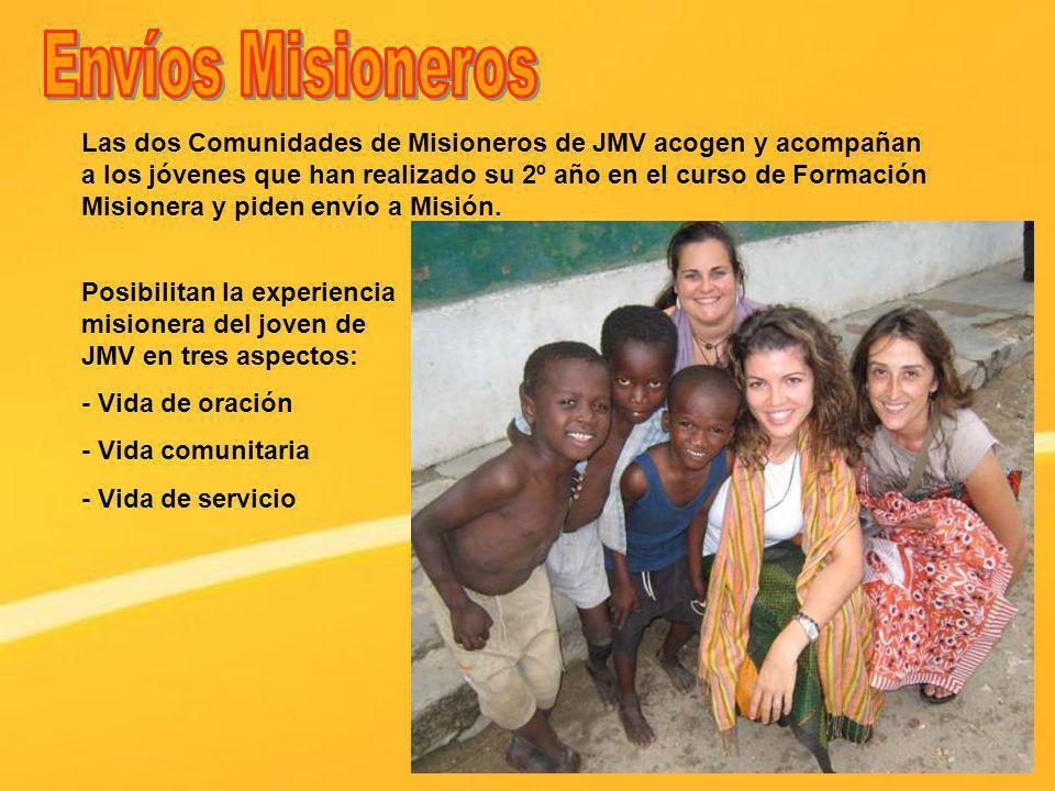 Las dos Comunidades de Misioneros de JMV acogen y acompañan a los jóvenes que han realizado su 2º año en el curso de Formación Misionera y piden envío