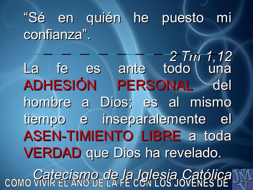 La fe es ante todo una ADHESIÓN PERSONAL del hombre a Dios; es al mismo tiempo e inseparalemente el ASEN-TIMIENTO LIBRE a toda VERDAD que Dios ha reve