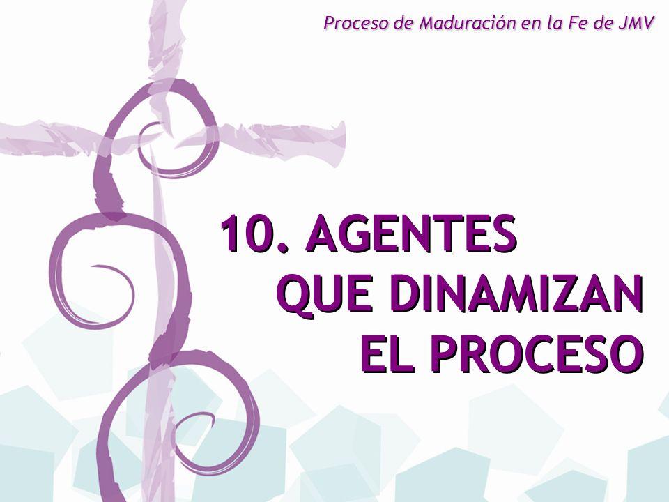 10. AGENTES QUE DINAMIZAN EL PROCESO 10. AGENTES QUE DINAMIZAN EL PROCESO Proceso de Maduración en la Fe de JMV