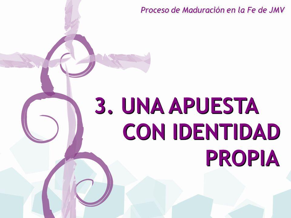 3. UNA APUESTA CON IDENTIDAD PROPIA 3. UNA APUESTA CON IDENTIDAD PROPIA Proceso de Maduración en la Fe de JMV