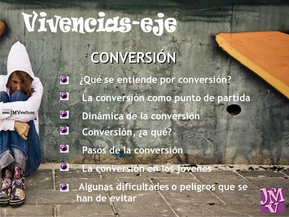 CONVERSIÓN ¿Qué se entiende por conversión? La conversión como punto de partida Dinámica de la conversión Conversión, ¿a qué? Pasos de la conversión L