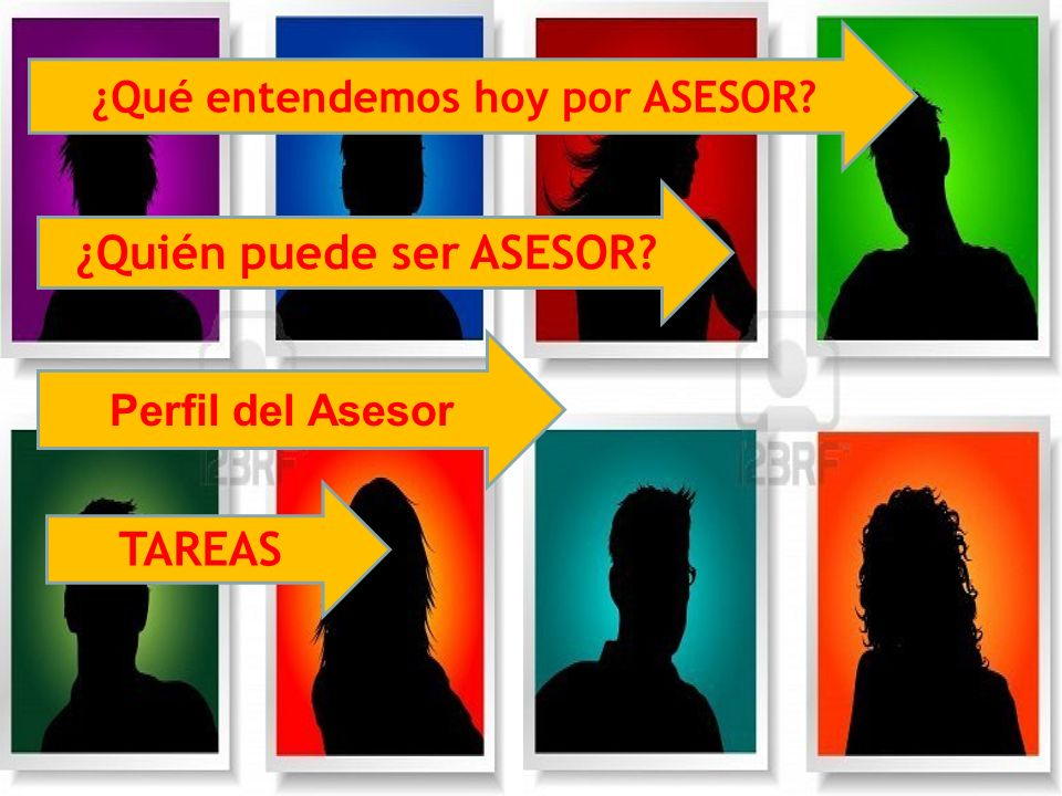 ¿Qué entendemos hoy por ASESOR? ¿Quién puede ser ASESOR? TAREAS Perfil del Asesor