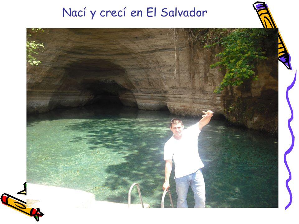 Nací y crecí en El Salvador Me gradué de la Universidad del Norte de Texas (UNT) como maestro bilingüe y educación general en los grados 4-8.