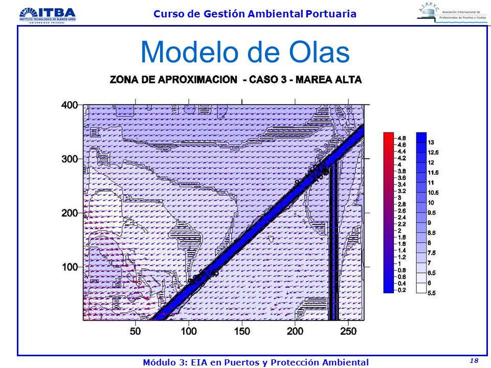 18 Curso de Gestión Ambiental Portuaria Módulo 3: EIA en Puertos y Protección Ambiental Modelo de Olas