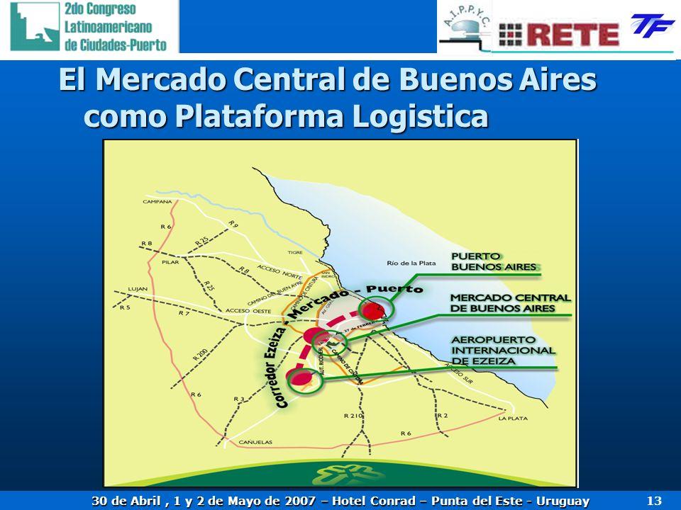 30 de Abril, 1 y 2 de Mayo de 2007 – Hotel Conrad – Punta del Este - Uruguay 13 El Mercado Central de Buenos Aires como Plataforma Logistica