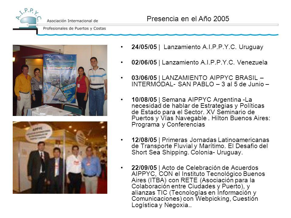 24/05/05 | Lanzamiento A.I.P.P.Y.C. Uruguay 02/06/05 | Lanzamiento A.I.P.P.Y.C.