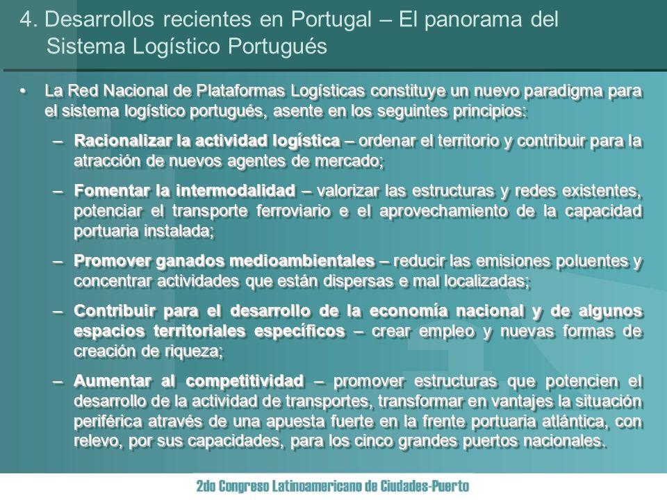 Esta Red és constituida por once plataformas logísticas, agrupadas en las seguintes categorías: plataformas urbanas nacionales (2 plataformas); plataformas portuarias (4 plataformas); plataformas transfronterizas (2 plataformas); y, plataformas regionales (3 plataformas).Esta Red és constituida por once plataformas logísticas, agrupadas en las seguintes categorías: plataformas urbanas nacionales (2 plataformas); plataformas portuarias (4 plataformas); plataformas transfronterizas (2 plataformas); y, plataformas regionales (3 plataformas).