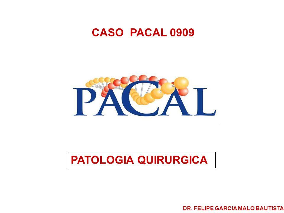 CASO PACAL 0909 Se trata de paciente femenina de 21 años de edad, a la cual se le efectuó colecistectomía por hallazgo radiológico y ultrasonográfico de un probable pólipo en el fondo vesicular.