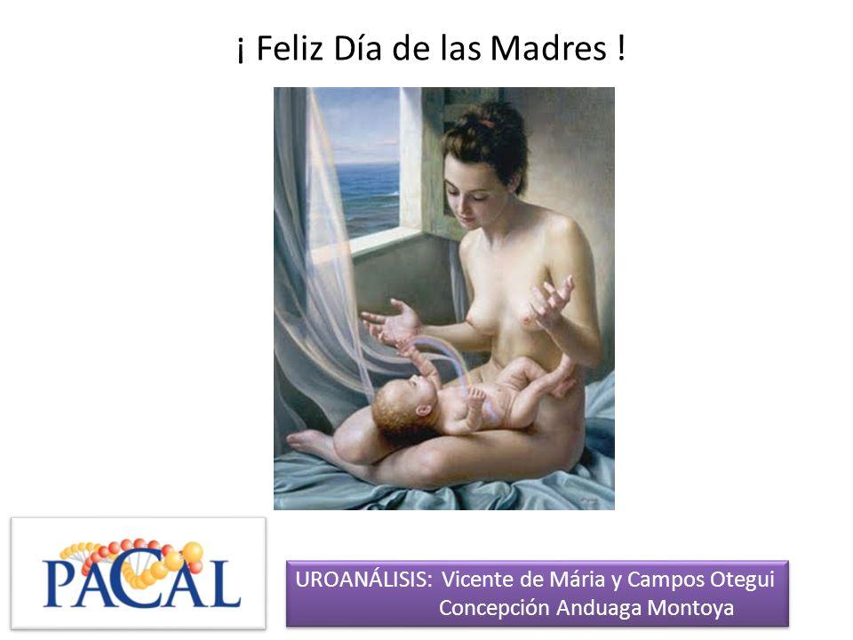 ¡ Feliz Día de las Madres ! UROANÁLISIS: Vicente de Mária y Campos Otegui Concepción Anduaga Montoya UROANÁLISIS: Vicente de Mária y Campos Otegui Con